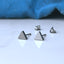 Triangle titanium earrings from Catlogix UK