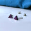 Titanium 5mm Triangle Stud Earrings in 5 Colours.