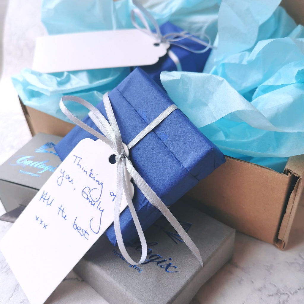 Gift Wrapping Available on All our Hypoallergenic Jewellery