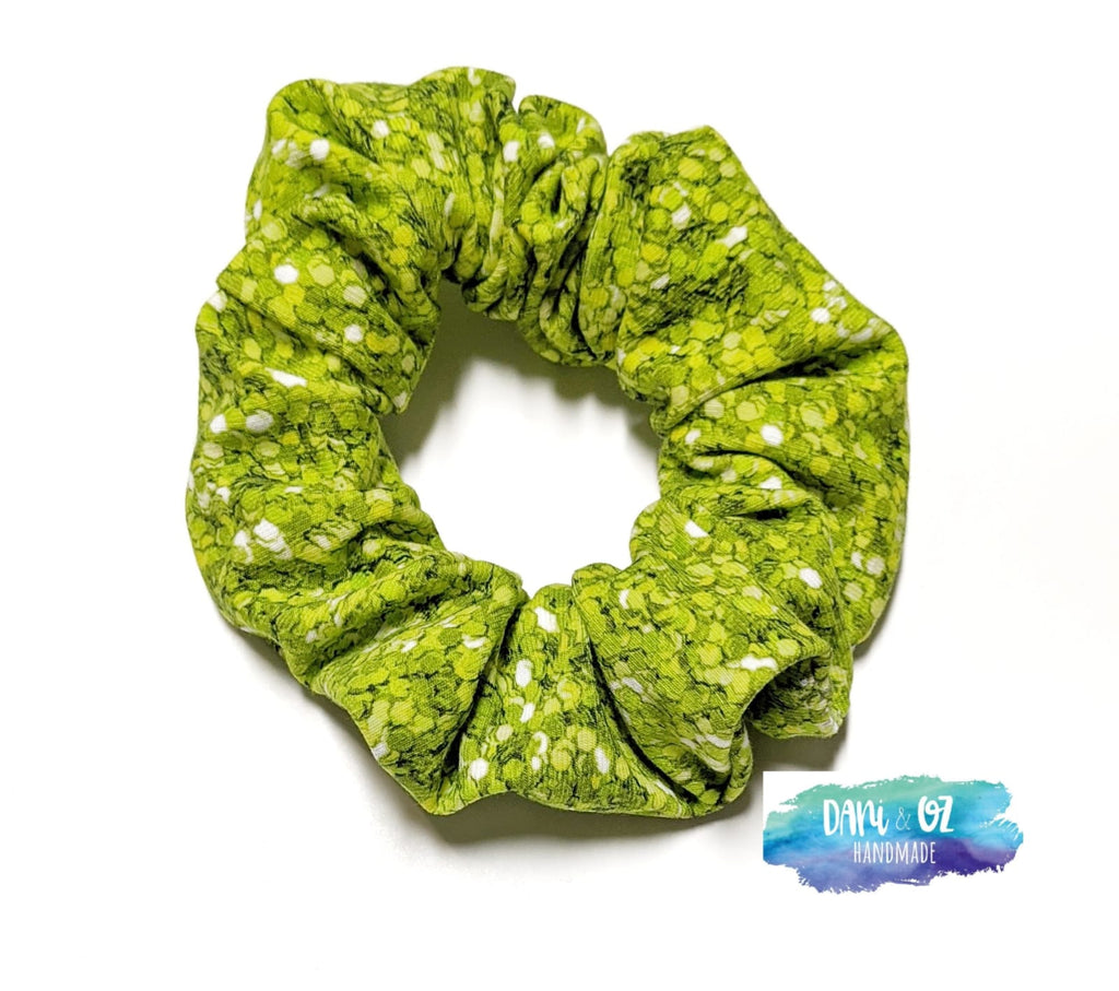 Green Glitter Scrunchie - Medium