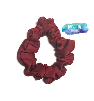 Maroon Silk Scrunchie - Medium
