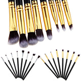 8 Pcs/set Eyeshadow Beginners Set in black and gold or black and silver for makeup artists