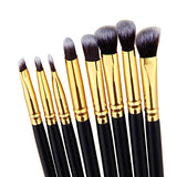8 Pcs/set Eyeshadow Beginners Set in black and gold for makeup artists