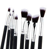 8 Pcs/set Eyeshadow Beginners Set in black and silver for makeup artists