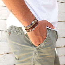 Leather X Bracelet - Men - Sterling Silver