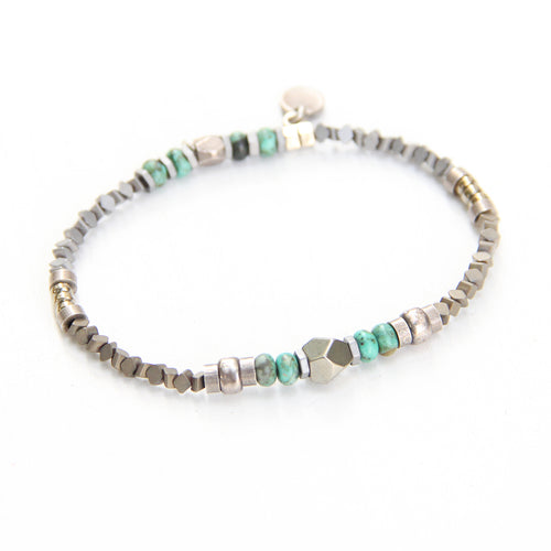 Sheryl Bracelet - Turquoise & Silver Plated
