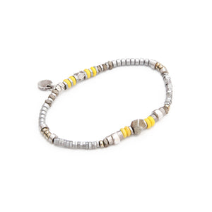 Sheryl Bracelet - Yellow & Silver Plated