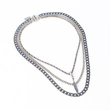 Feather Necklace - Silver Plated