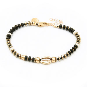Niky Bracelet - Black & Gold Plated