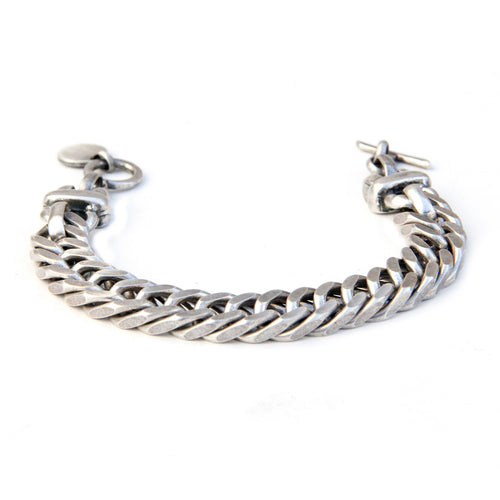Double Link Chain Bracelet - Silver Plated