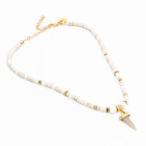 Shark Tooth Choker Necklace - Gold Plated