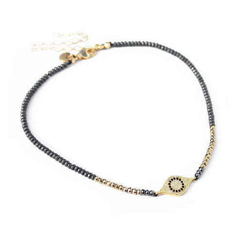 Eye Choker Necklace - Gold Plated