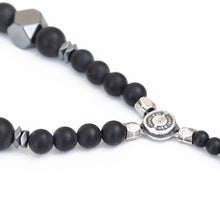 Boho Necklace - Men - Black & Silver Plated