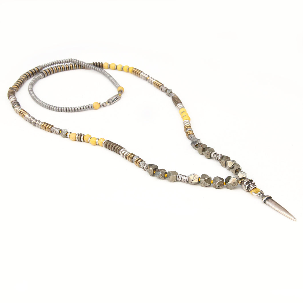 Mohawk Necklace - Yellow & Silver Plated