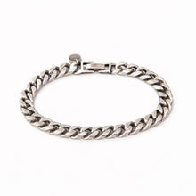 Men's Classic Link Chain Bracelet - Silver Plated