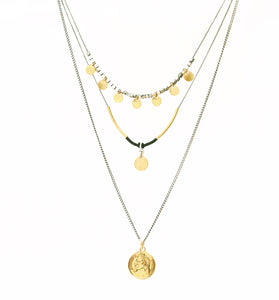 Julius Necklace - Silver Plated & Gold Plated
