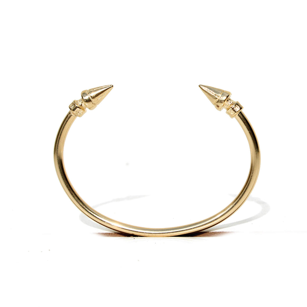 Cone Bracelet - Sterling Silver, Gold Plated