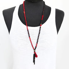Calypso mala Necklace - Red & Black