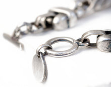 Men's Double Link Chain Bracelet - Silver Plated