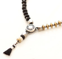 Niky Necklace - Black, Sterling Silver & Silver Plated