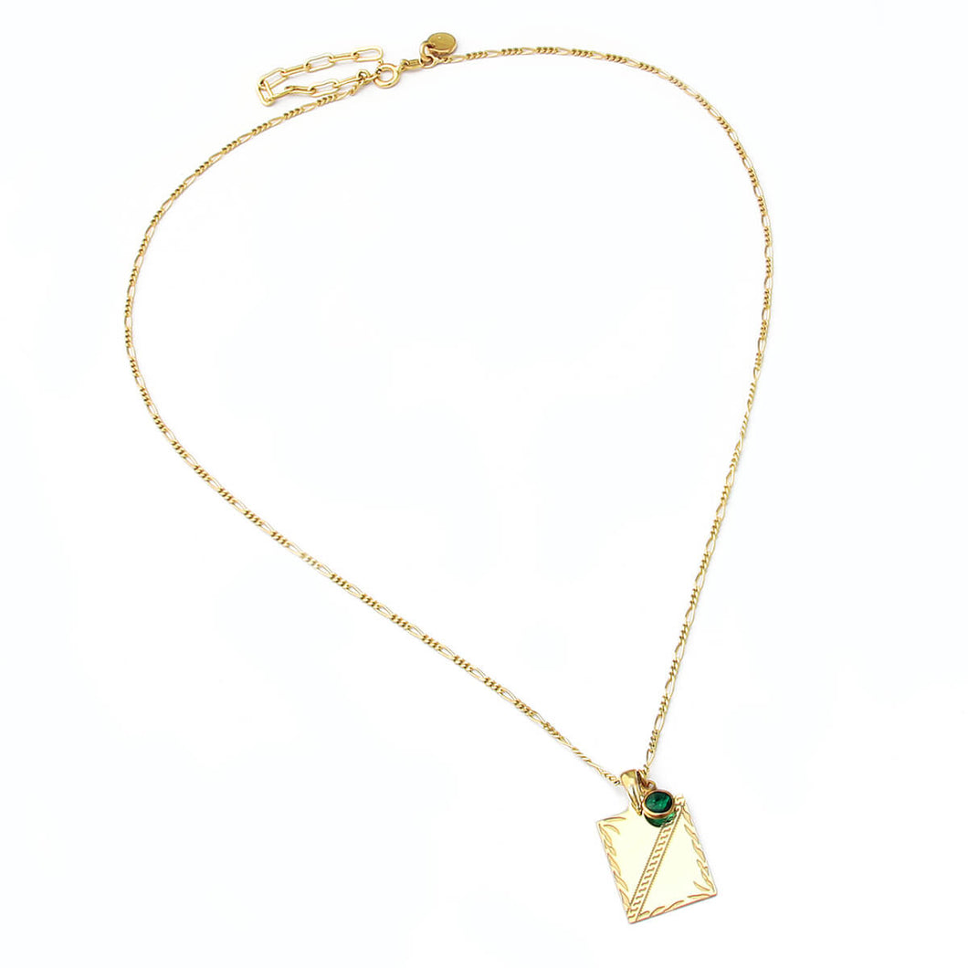 Clio Swarovski Necklace - Sterling Silver, Gold Plated