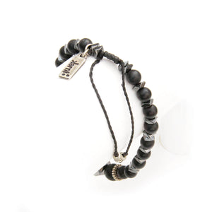 Onyx Bracelet - Men - Black & Silver Plated