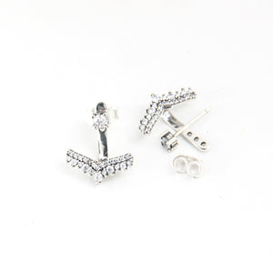 Anchor Zircons Earrings - Sterling Silver