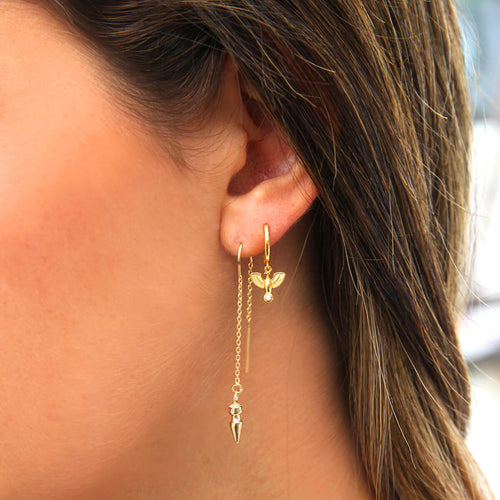 Sterling Silver Earrings Stack - Phoenix - Micron Gold Plating