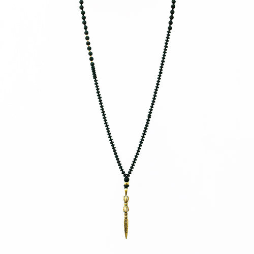 Nogo Necklace - Black & Gold Plated