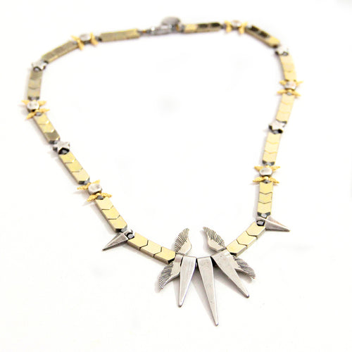 Troy Necklace - Bright Gold Hematite