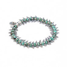 Camila Bracelet - Turquoise & Silver Plated