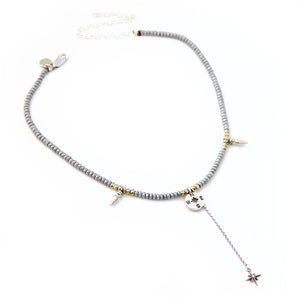 Compass Rose Necklaces Stack