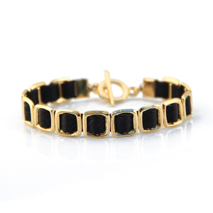 Mini Anat Bracelet - Black & Gold Plated