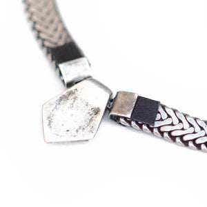 Choker Rhombus Necklace - Silver Plated
