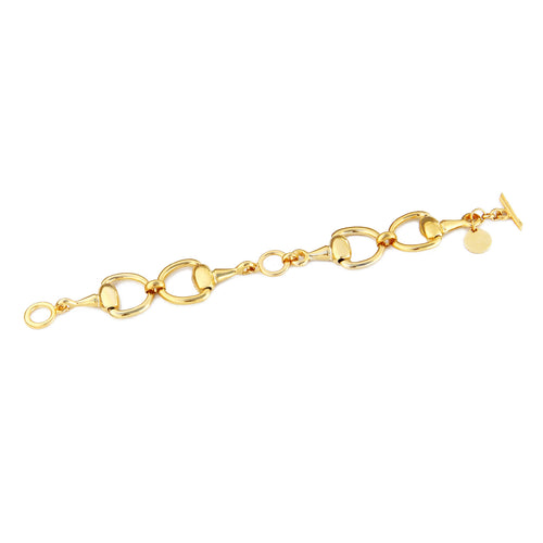 Stirrup Bracelet - Gold Plated
