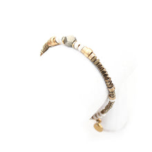 Sheryl Bracelet - White & Gold Plated