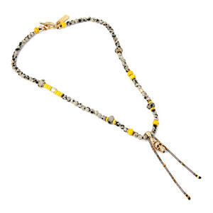 Amy Necklace - Dalmatian Jasper & Gold Plated