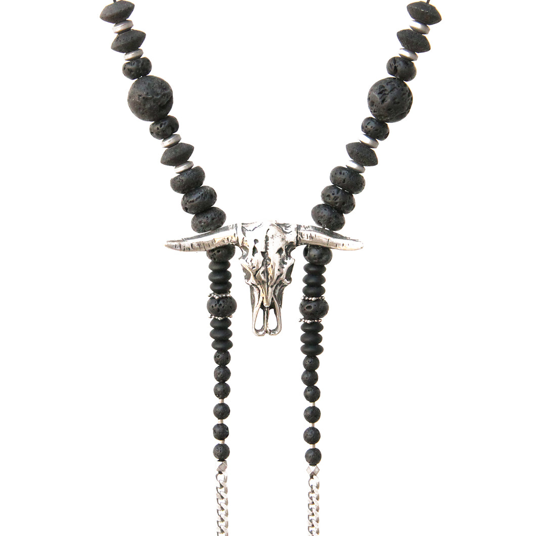 Bull Voltaire Necklace - Silver Plated