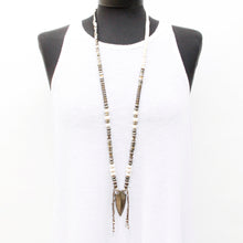 Iris Necklace - White & Silver Plated