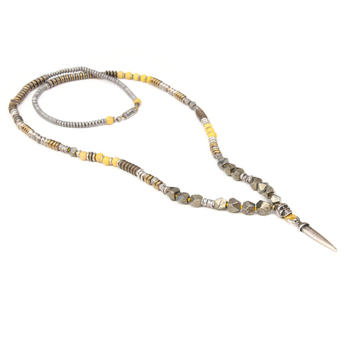Mohawk Necklace - Men - Yellow & Silver Plated