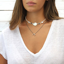Blue Eyes Necklaces Stack - Sterling Silver, Natural Pearls