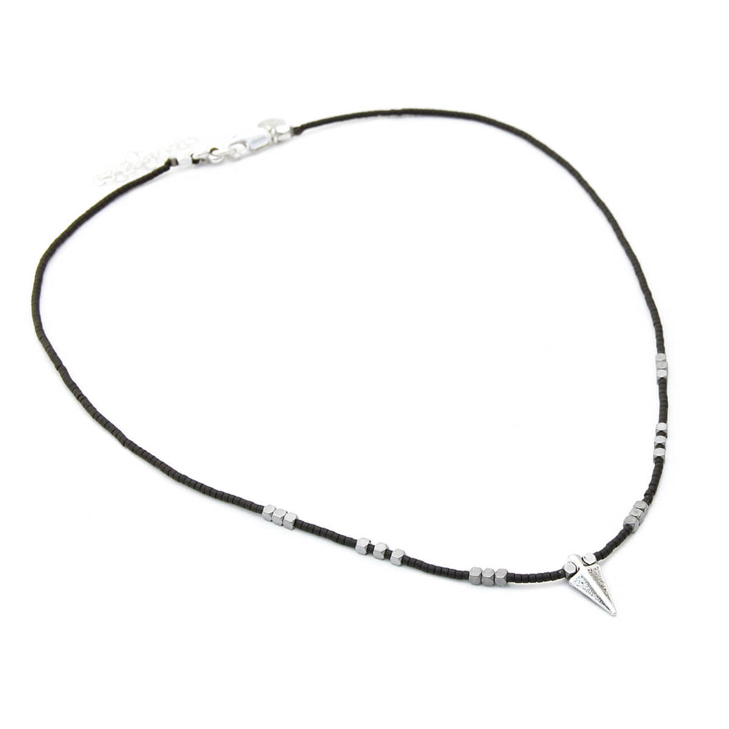 Rocky Necklace - Special Edition - Black & Silver Plated
