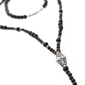 Cerro Negro Necklace - Men - Black & Silver Plated