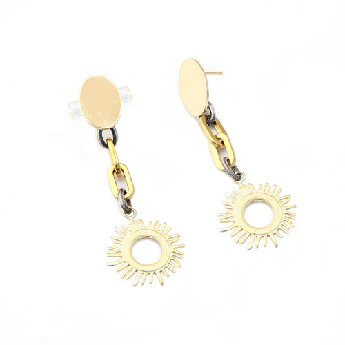 Helios Earrings - Gold & Silver Plated