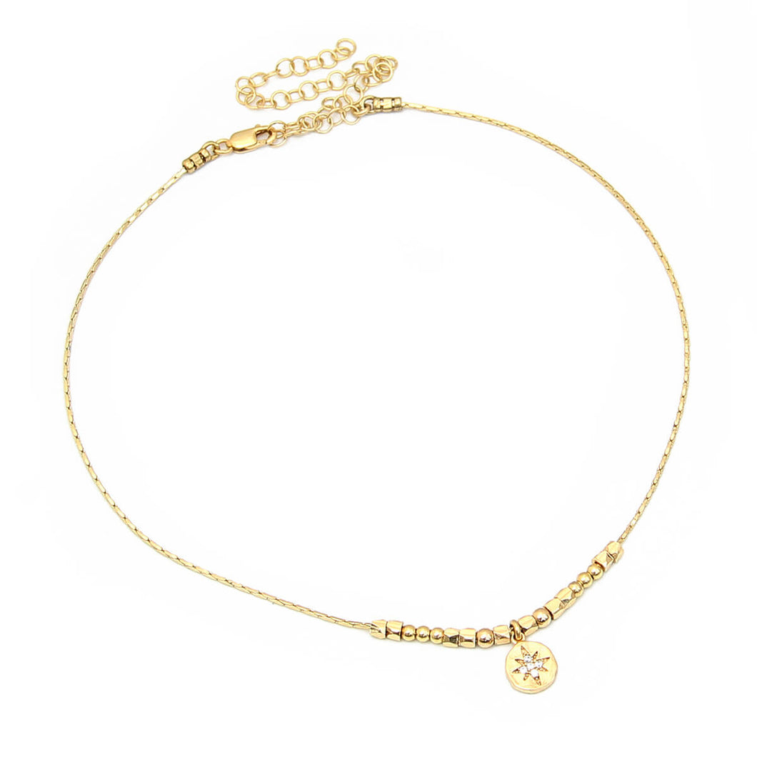 Asteria Choker Necklace - Gold Plated