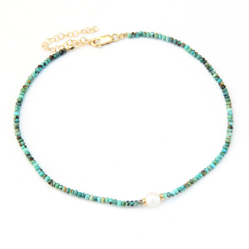 Rhodes Choker - Gold Plated & Turquoise