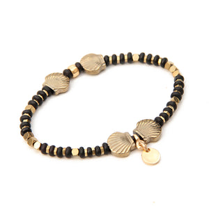 Ariel Bracelet - Black & Gold Plated