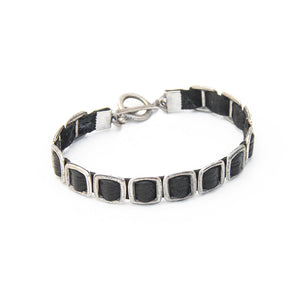 Mini Anat Bracelet - Men - Black & Silver Plated