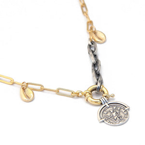 Tiaa Necklace - Sterling Silver & Gold Plated