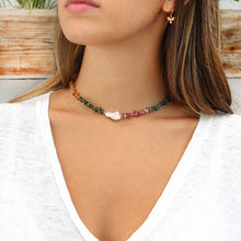 Tourmaline Choker Necklace - Gold Filled